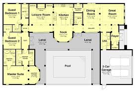 small courtyard house plans u shaped house plans modern 2014 with pool 2 courtyard
