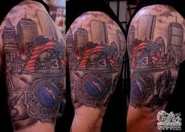 american firefighter tattoos tribal fire and firehighter skull