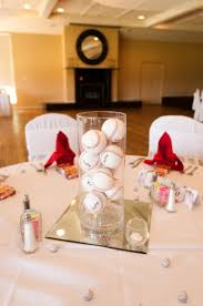 themed centerpieces for weddings inexpensive baseball centerpieces baseball themed wedding