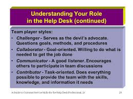 What Does It Help Desk Do Chapter 8 Teams And Team Players In A Help Desk Setting Ppt