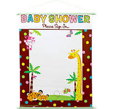 baby shower sign in baby shower banners yard signs party city