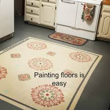 diy painting floors with stenciled rug design for what it u0027s worth