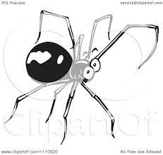 halloween spider clipart black and white cute spider clipart black and white