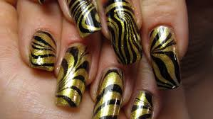 black and gold water marble design nail art tutorial youtube