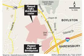 Fedex Delivery Routes Map by Development Plans At Shrewsbury Boylston Line Raise Concerns