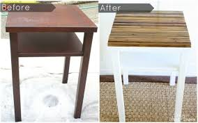 Diy Side Table Diy Side Table Makeover With Naturally Distressed Wood Taryn