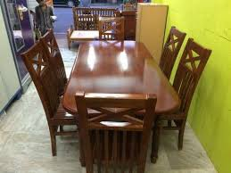 wooden dining table set stylish dining table set with 6 chairs