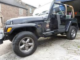 jeep rubicon white with black rims used black jeep wrangler for sale derbyshire
