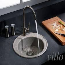 Granite Single Round Bowl Kitchen Sink Global Sources - Round sink kitchen
