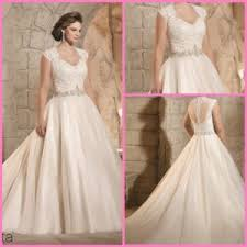 china cap sleeves bridal gown beads plus size lace tulle wedding