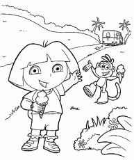 download boots dora printable coloring pages print boots