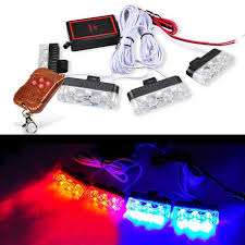 Blue Lights For Firefighters 42 99 Know More Car 4x3 12led 12w Strobe Flash Warning Ems