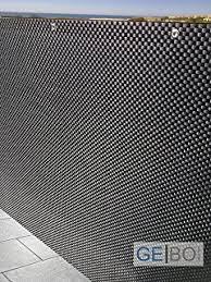 balkon sichtschutz grau smart deko 44003 polyrattan sichtschutz 90x300cm