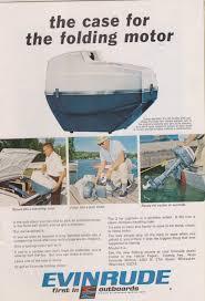 1966 evinrude outboard boat motors 3hp lightwin folding motor vtg