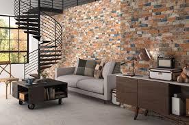 Classic Red Brick Effect Tiles Rustic Masonry Brick Effect Tiles - Tiles design for living room wall