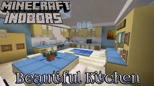 minecraft indoors interior design beautiful kitchen youtube