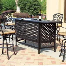 Bistro Set Bar Height Outdoor by Furniture Oxford Garden Sonoma Bar Height Patio Bistro Set