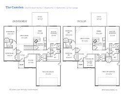 camden floor plan the camden harlow builders inc