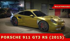 gold porsche 911 need for speed 2015 matte chrome gold porsche 911 gt3 rs 2015