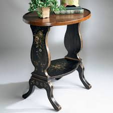butler accent table butler accent table 26h in regal black hand painted hayneedle