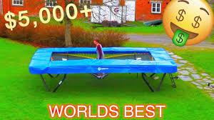 Best Backyard Trampolines Most Expensive Backyard Trampoline Crazy Flips Youtube