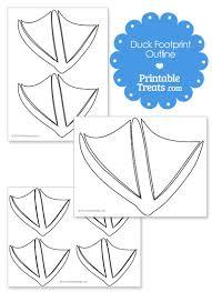 printable duck footprint template u2014 printable treats com