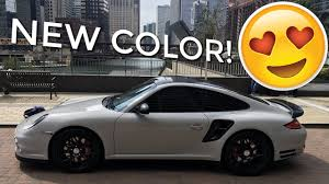 porsche gray wrapping my porsche 911 turbo fashion grey youtube