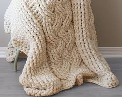 Cable Knit Rug Diy Knitting Pattern Throw Blanket Rug Super Chunky Double