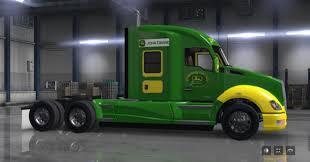 custom kenworth trucks kenworth t680 john deere skin mod american truck simulator mod