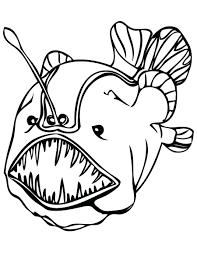 deep sea fish coloring pages angler deep sea fish