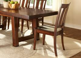rectangular trestle dining table with solids rubberwood mahogany