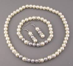 pearl necklace wholesale images Shiny wedding jewelry bracelet necklace earrings pearls JPG