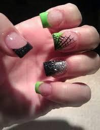 sf giants nail art orange black and white poka dots my