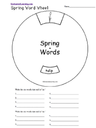 spelling worksheets spring theme page at enchantedlearning com