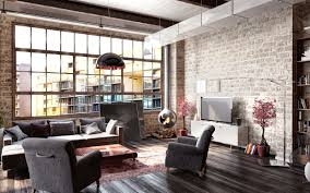 Brick Loft by Brick Wall Loft Home Design Ideas