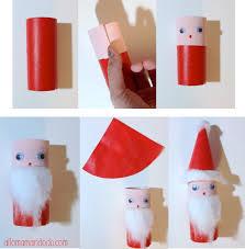 bricolage noel avec rouleau papier toilette diy père noël super activité pour les enfants rouleau de papier