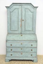 Swedish Painted Furniture Antique Swedish Blue Painted Baroque Secretary 18th Century At 1stdibs
