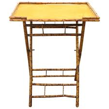 late 19th century burnt bamboo folding table furniture folding