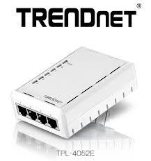 tpl 4052e trendnet ships powerline 500 av adapter with four integrated ports