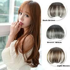 clip on bangs 1x korean thin hair extension false hair hair clip in bangs