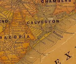 map of galveston galveston county 1920s map maps galveston