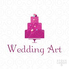 wedding cake logo exclusive customizable logo for sale wedding cake decoration