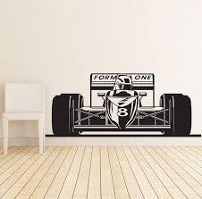 formula 1 sports race car racing wall decal vinyl poster decor zoom