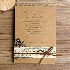 rustic wedding invitations fresh rustic wedding invitations with lace for country rustic lace