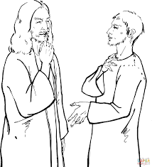 jesus commanded healed man not to tell anyone coloring page free