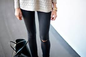 Skinny Jeans With Holes Hole Shop For Hole On Wheretoget