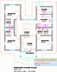 Simple House Plans Under 1600 Sq Ft Free Kerala House Plans Best 24 Home Design With Floor Ground South