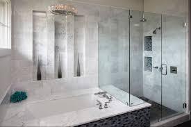 bathroom fetching bathroom design using blue glass mosaic tile