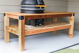 diy grill table plans diy kamado grill table