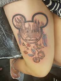 Best Back Tattoos For Guys My Disney And Harry Potter Mash Up Thigh Tattoos